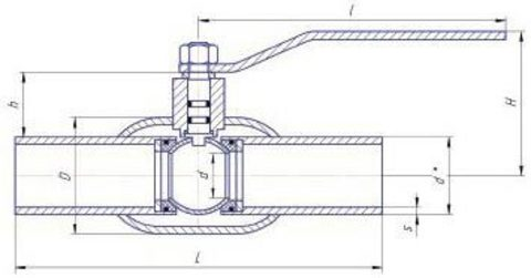 Конструкция LD КШ.Ц.П.GAS.250/200.025.Н/П.02 Ду250