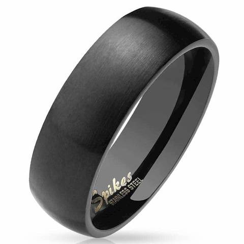 Кольца чёрные матовые мужские и женские из ювелирной стали SPIKES R027K
