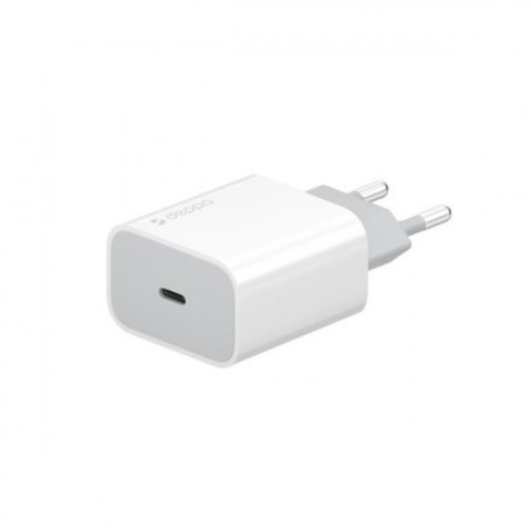 Адаптер питания Deppa USB Type-C Power Delivery 20Вт D-11391 (5В/ 3А, 9В/ 2А, 12В/ 1.5А) Белый