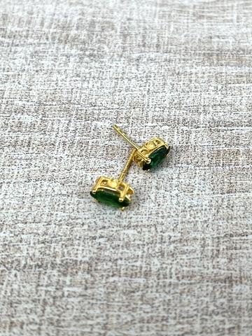 Серьги Нери зеленые, позолота
