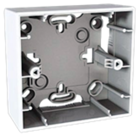 Коробка для открытой установки. Цвет Белый. Schneider electric Unica. MGU8.002.18