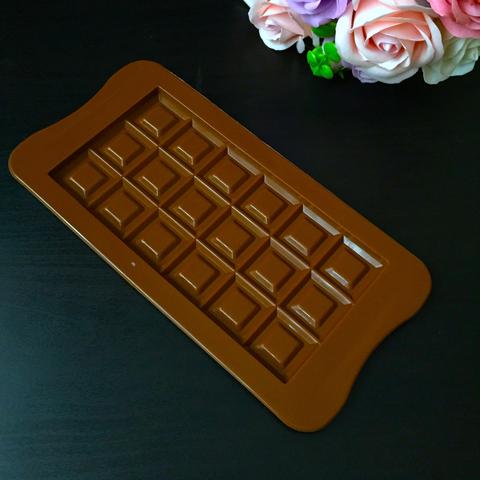 Силиконовая форма Плитка Шоколада ПЛИТКА С НАЧИНКОЙ (узор квадраты) 160х80мм.