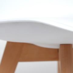 Стул Secret De Maison TULIP (mod. 73) дерево/пластик/ПУ, белый
