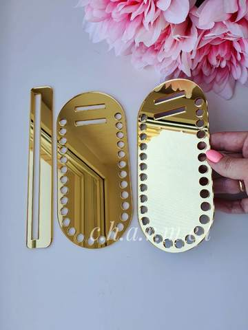 Каркас для сумки, акрил, цвет Золото зеркальный