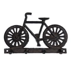 Вешалка чугунная 4 крючка «Велосипед»