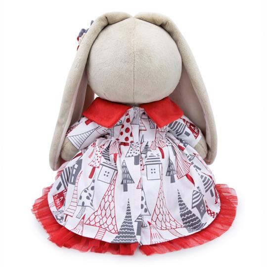 Зайка Ми Большая в платье с красным воротничком