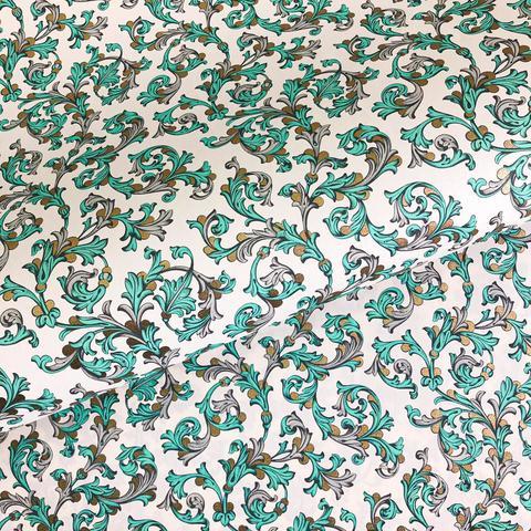Бумага декоративная упаковочная Флорентийская бирюзовая