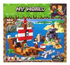 Конструктор Майнкрафт 11170 Приключения на пиратском корабле 404 д