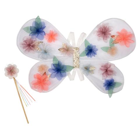 Крылья бабочки из органзы с волшебной палочкой