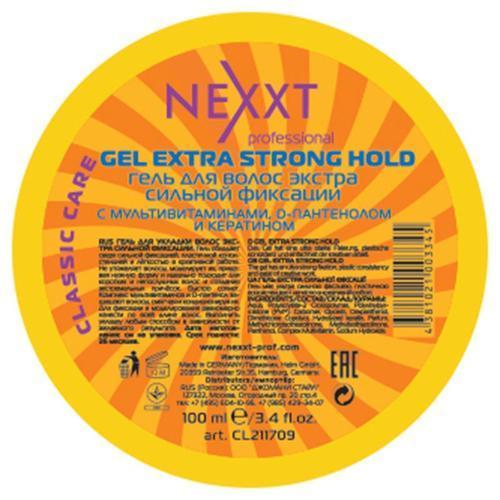 Гель для укладки волос экстра сильной фиксации, NEXXT, 100 мл