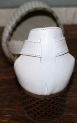 Женские летние туфли на низком каблуке Evromoda 101-6 White.