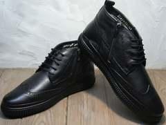 Хорошие мужские зимние ботинки Rifellini Rovigo C8208 Black