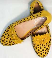 Красивые летние туфли женские слиперы Phany 103-28 Yellow.