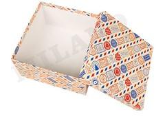 Набор квадратных коробок 5 в 1 Новогодняя посылка (17 x 17 x 17 - 9 x 9 x 9 см), 1 набор.