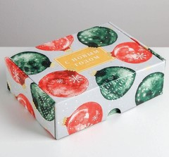 Складная коробка «Уютного нового года», 30,7 × 22 × 9,5 см, 1 шт.