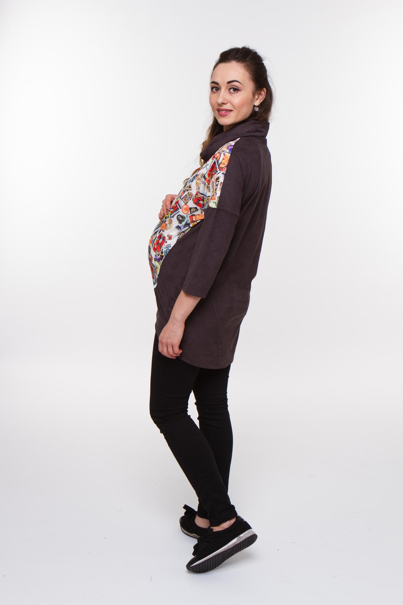 Джемпер для беременных 08360 коричневый