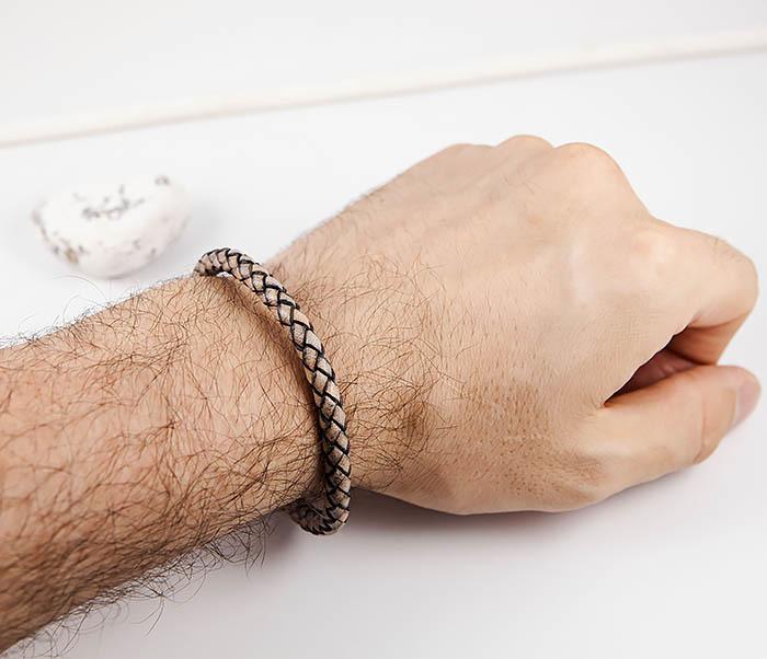 BM517-3 Мужской браслет шнур из натуральной кожи фото 07