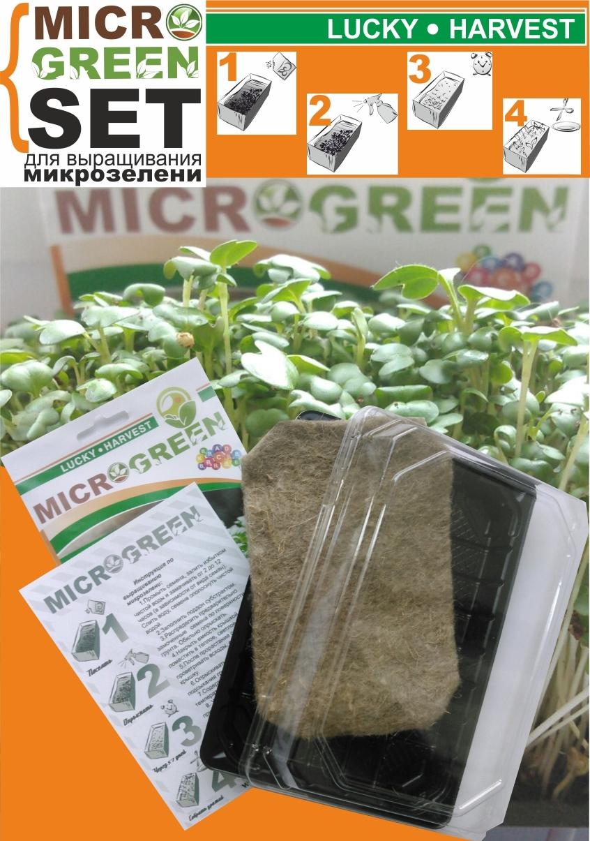 MICROGREEN SET  ЛУК  для выращивания микрозелени ТМ LUCKY HARVEST