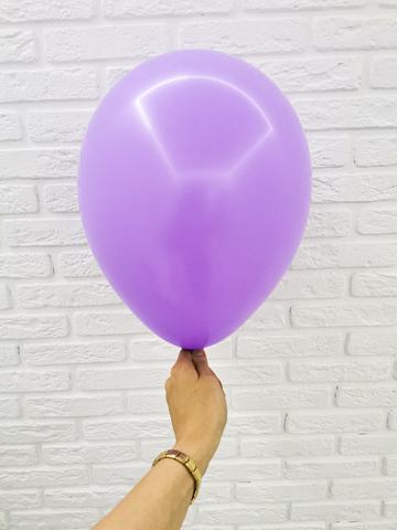 №11 Сиреневый Гелиевый шар пастель 30см с обработкой