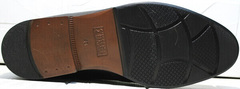 Зимние классические ботинки на толстой подошве мужские Ikoc 3640-1 Black Leather.