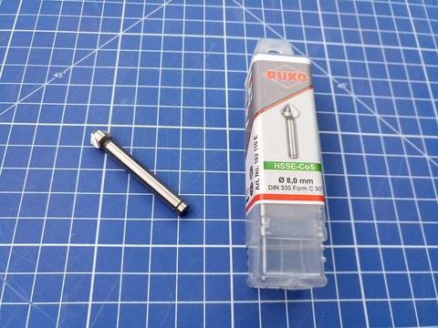 Зенковка ц/х 90° 8,0мм HSSE-Co5 3z DIN335C L50мм d6мм M4(AF) Ruko 102110E (В)