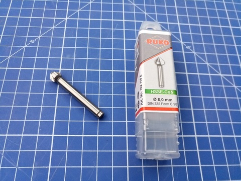 Зенковка ц/х 90° 8,0мм (DIN74AF M4) DIN335C 3z HSSE-Co5 Ruko