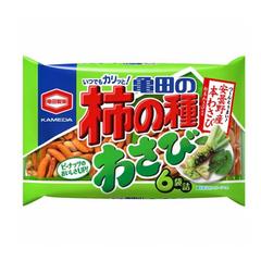 Рисовые снэки Kakinotane Wasabi с васаби и арахисом 182 гр