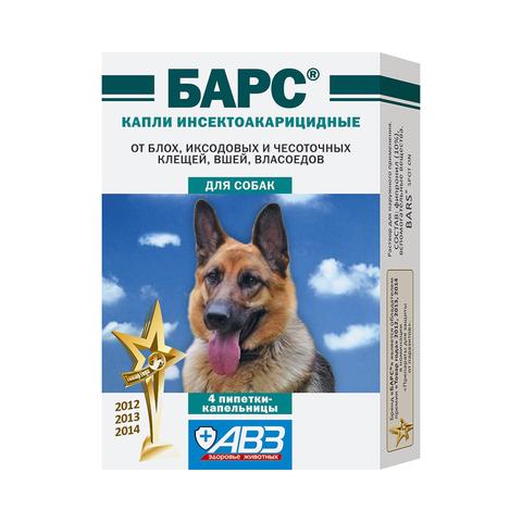 Барс капли для собак