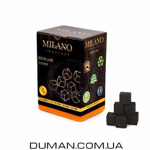 Натуральный кокосовый уголь Milano (Милано) для кальяна |1кг 72куб 25*25мм