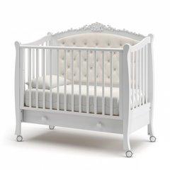 Кровать детская Жанетт new с колесами и ящиком белый
