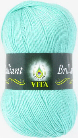 Пряжа Brilliant Vita 4992 светлая зеленая бирюза фото