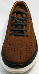 Мужские летние кроссовки для повседневной носки Vitto Men Shoes 1830 Brown White