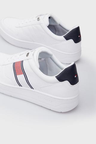 Мужские белые кожаные кроссовки BASKET LOW CUPSOLE Tommy Hilfiger
