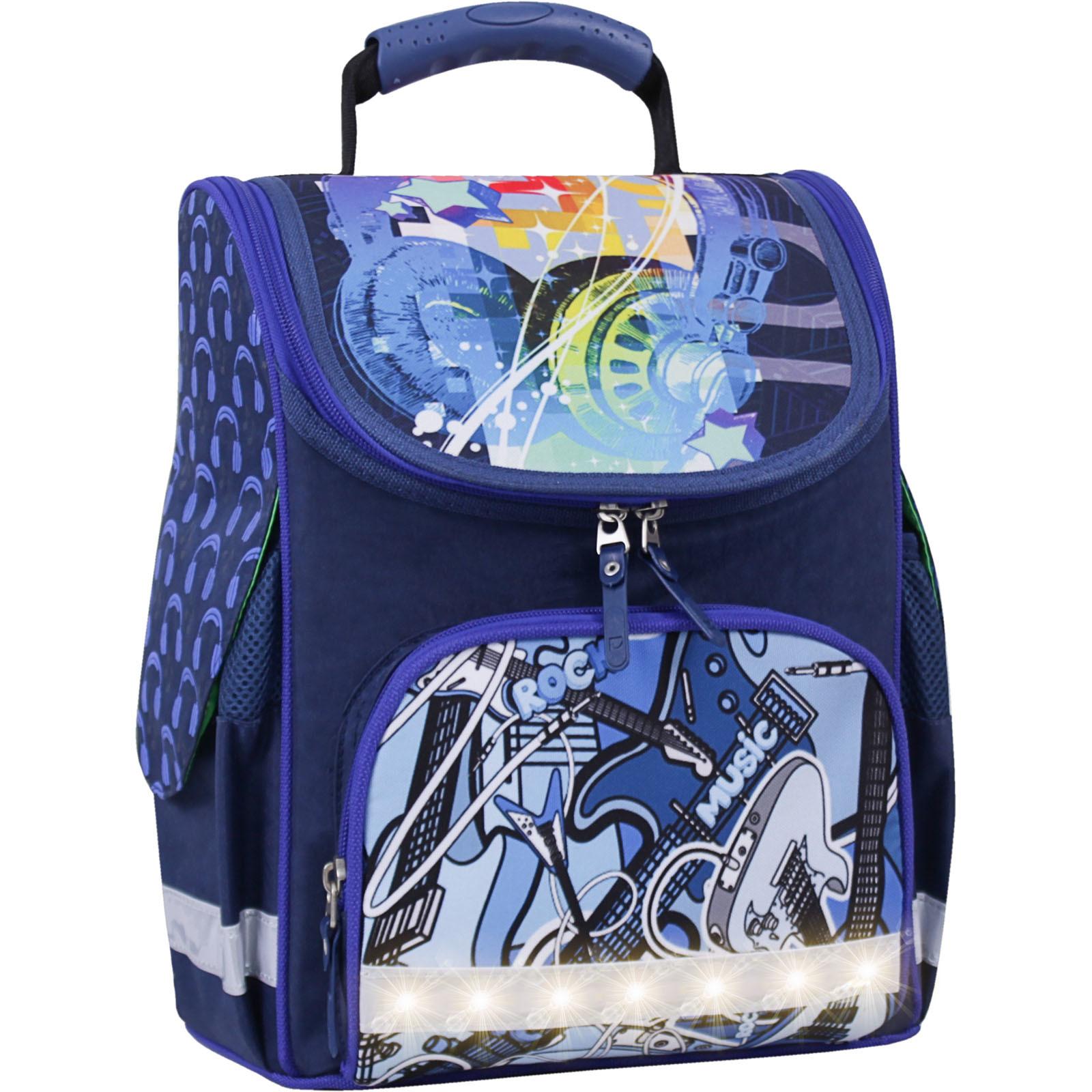 Школьные рюкзаки Рюкзак школьный каркасный с фонариками Bagland Успех 12 л. синий 614 (00551703) IMG_3803свет.суб614-1600.jpg