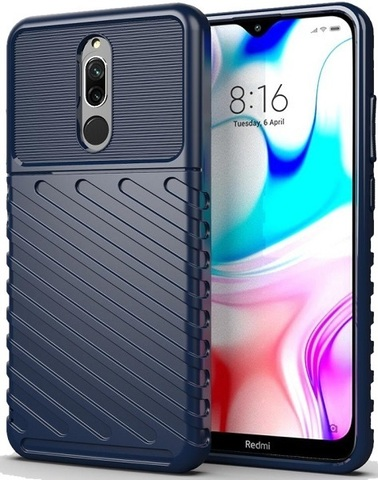 Carbon / Чехол для Xiaomi Redmi 8/8A серия Оникс | синий
