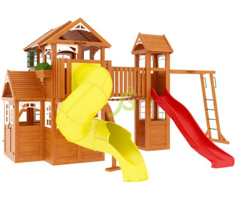 Детская площадка Клубный домик Макси с трубой Luxe