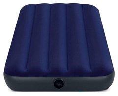 Матрас надувной INTEX Classic Downy Airbed синий размер 191 х 76 х 25 см 64756