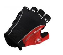 Велосипедные перчатки Castelli Rosso короткие (красные)