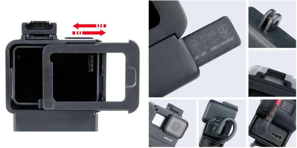 Рамка для микрофона HERO5/6/7 Black ULANZI V2