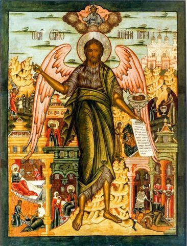 Икона святой Иоанн Предтеча Ангел Пустыни на дереве на левкасе мастерская Иконный Дом