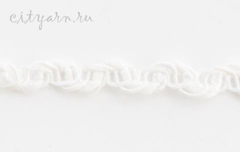 Тесьма льняная плетёная, цвет молочный,  B11207.00/1, ширина 1.5 см, цена указана за 50 см