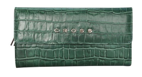 Кошелек Cross Bebe Coco  (AC578302-4) кожа наппа зелёный/рыжий 195х105х3 см
