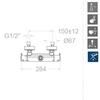 Смеситель термостатический для ванны BLAUTHERM 941202S - фото №2