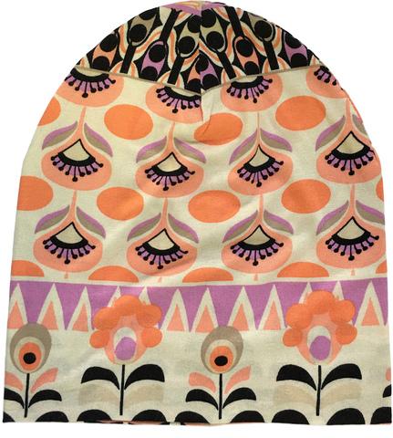 Шапочка-бини с цветочным узором