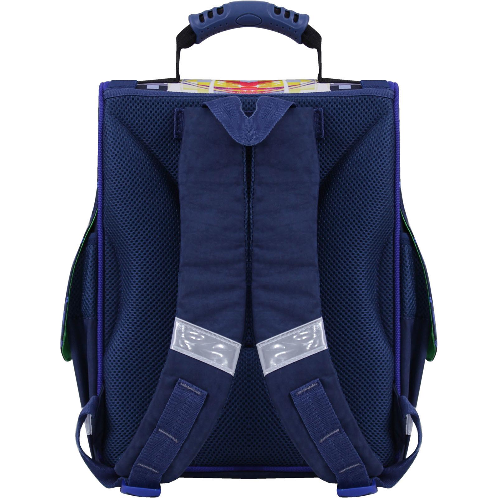 Рюкзак школьный каркасный с фонариками Bagland Успех 12 л. синий 614 (00551703)