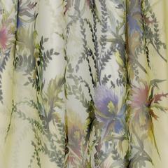 Квадратный купон шёлкового шифона от Ruffo Coli с бордюром из полевых цветов