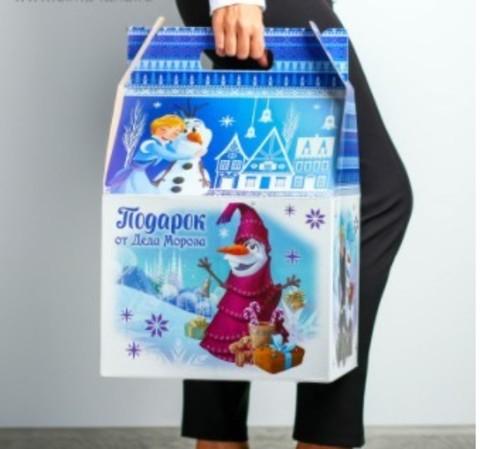 060-0166 Подарочная коробка гигант «С Новым Годом!», Холодное сердце, 30 х 50 х 32 см