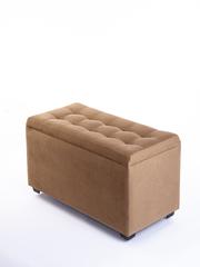 Пф-800-Я Пуфик квадратный (светло коричнеый) с ящиком для хранения