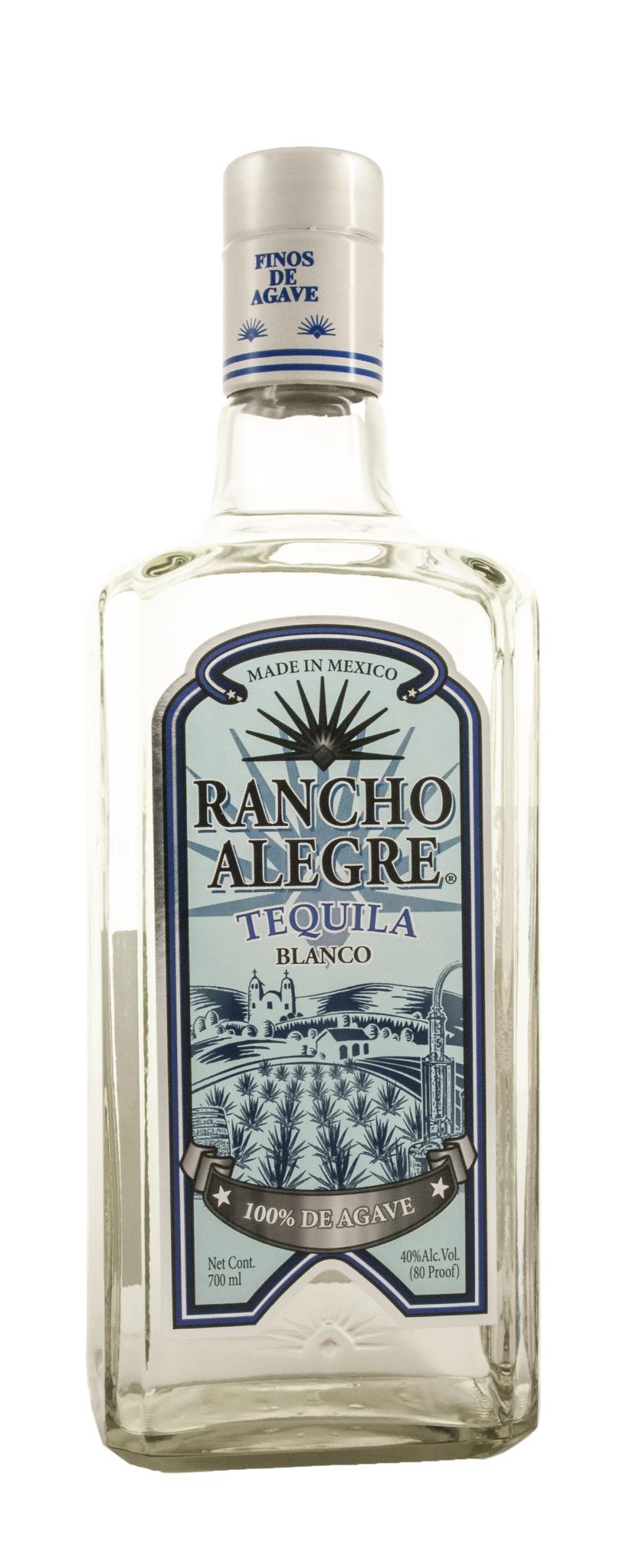 Текила Ранчо Алегре Бланко 100% де Агаве 0,7л 40% Мексика