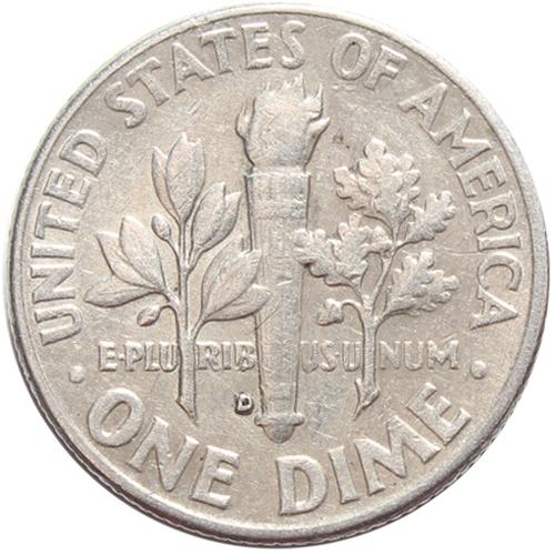 1 дайм (10 центов) 1963. США (D) VF Серебро